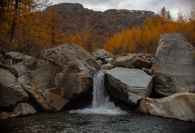 Вода Водопад осень пейзаж природа вода лес гора