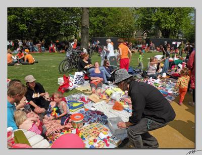 День Королевы (4) День, королева, роджение, оранжевый, праздник, Амстердам, Голландия, Нидерланды, Vondelpark