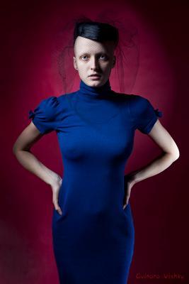 Марьянна Марьяна  савина  шляпка синее  платье голубые  глаза