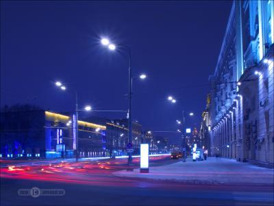 А в городе шёл снег и по улицам текла «лава»... ночь штатив выдержка город фиоллентоваяночнушка