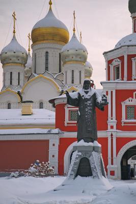 Святитель архитектура город Москва памятники пейзаж храмы церковь Зачатьевский монастырь панорама