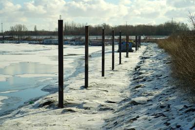 Каналы в мороз (Гамбург) Гамбург