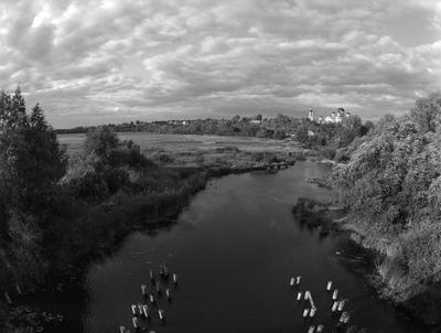 Арзамас. Вид с моста через р. Тёша.