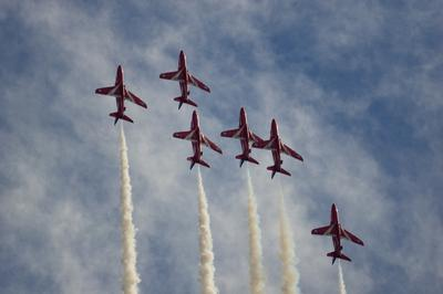 Red Arrows II Red Arrows Hawker Siddeley Hawk красные стрелы пилотажная группа авиашоу Royal Air Force Aerobatic Team