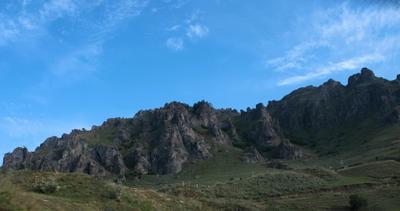 По Карачаево-Черкессии КЧР, горы, небо