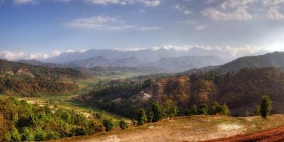 Непальские пейзажи Непал пейзаж горы небо облака
