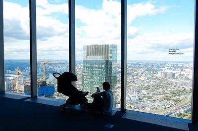 Москва-Сити,  89 этаж, PANORAMA 360 здания небоскреб Россия Russia Moskow Город Москва Moscow- City Москва-Сити смотровая площадка