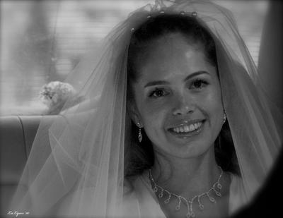 *** улыбка невеста в авто