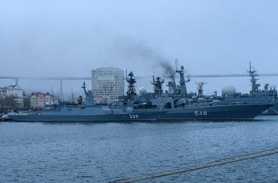 Корабли КТОФ на главной базе Владивосток Море бухта Золотой Рог корабли