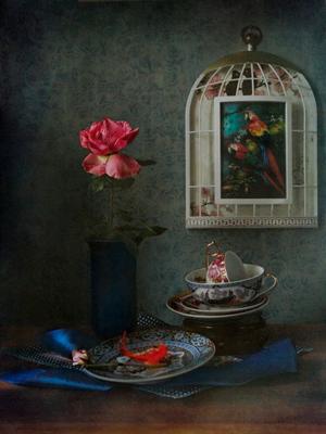 Поздняя роза.. натюрморт осень цветы розы садовые