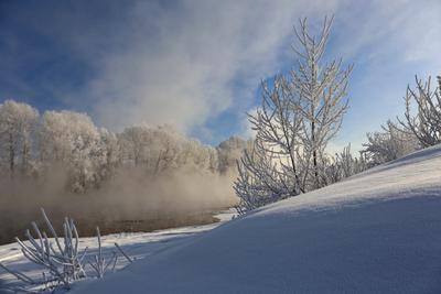 Морозные фантазии Сибирь Кузбасс река Томь снег зима мороз