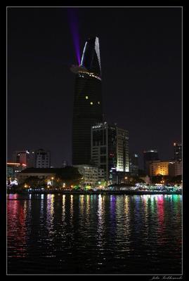 Bitexco Financial Tower at night vietnam hochiminh bitexco tower вьетнам хошимин битекско