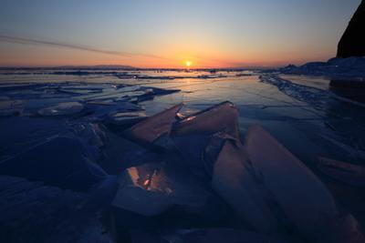 *** Байкал, Ольхон, восход, лед