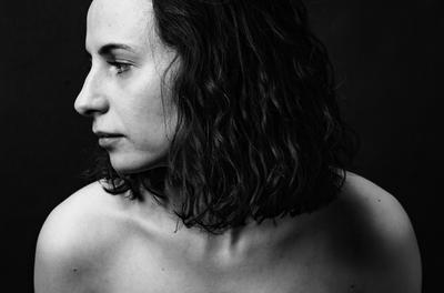 *** портрет девушка модель черно-белое