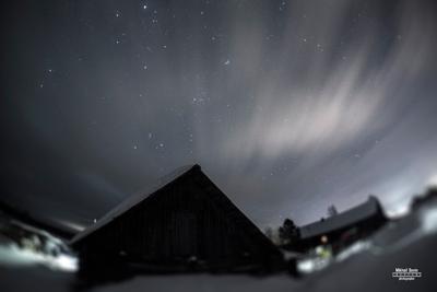 *** ночное небо звезды облака
