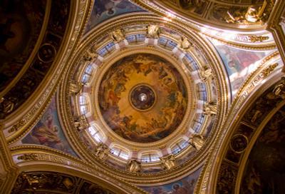 Купол Исакиевского собора Исакиевский собор, голубь, купол, Питер