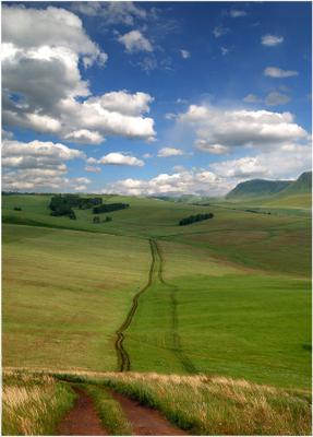 О дороге Облака холмы дорога долина