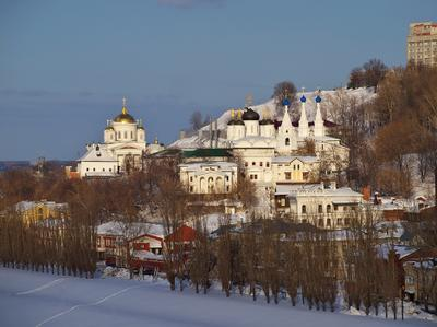Благовещенский монастырь Нижний_Новгород монастырь снег