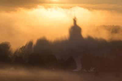 Видение утро туман лето Фрязино Гребнево свет тень