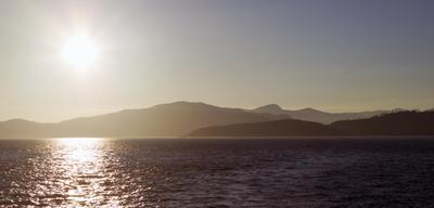 *** English Bay Vancouver Canada закат Ванкувер горы залив