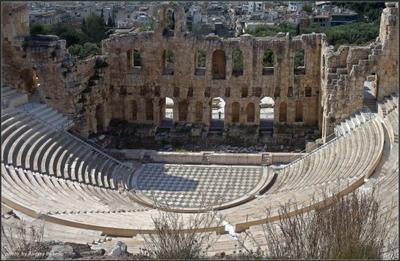 Театр Диониса Греция Афины Театр Диониса