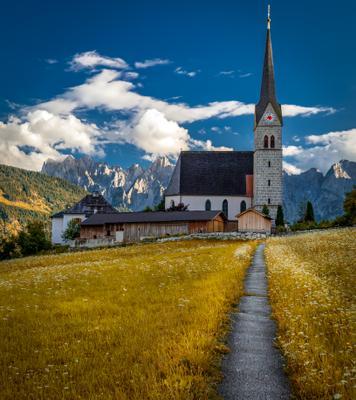 дорожка горы церковь