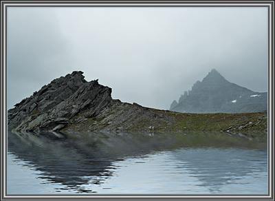 Гиперборея туман горы скалы вода