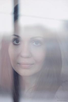 туман девушка, глаза