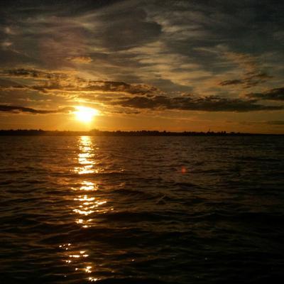 Закат солнца вручную Ветлуга Волга Вода Закат Небо