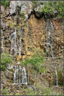 Водопадик (фото №3) Старая линза, Шабры, карьер, водопад