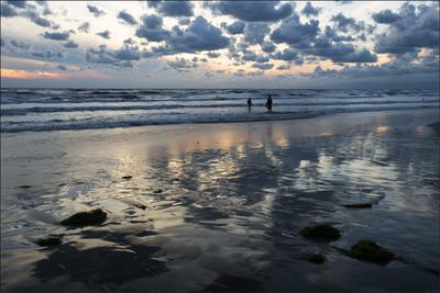 Синяя вечность Море пляж облака