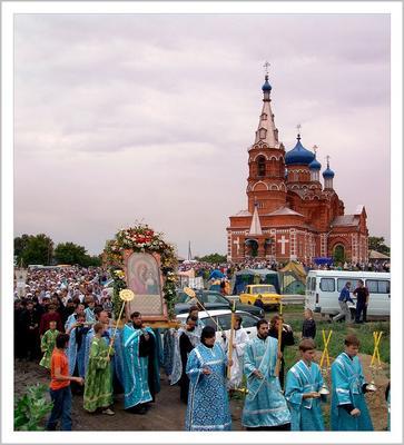 Крестный ход. храм,коробейниково,икона
