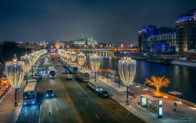 Новогодняя Москва москва город новый_год дорога