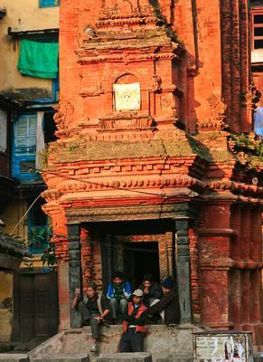 Вечер в Катманду Непал Катманду