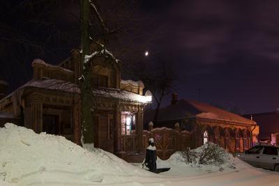 Ночь... Зима город ночь
