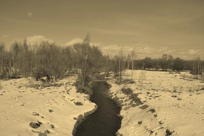 Река Угра река угра смоленская область сепия умиротворенность