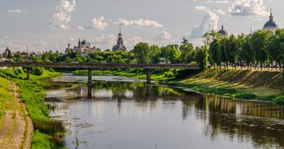 Старинный русский город Торжок пейзаж nevant60 вечер природа