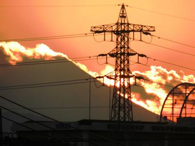 Вулкан Фудзияма вулкан электроопора вечер