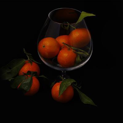 Солнце в бокале апельсины бокал
