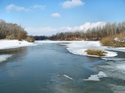 Скоро ледоход... Весна река апрель