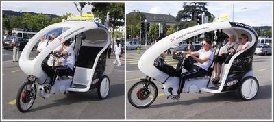 Уговорил таки... велорикша Женева Швейцария июль 2011