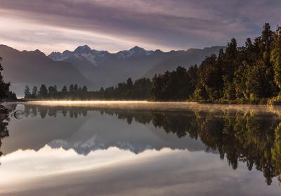 ReflectioNZ New Zealand Lake Matheson Mount Cook reflection morning