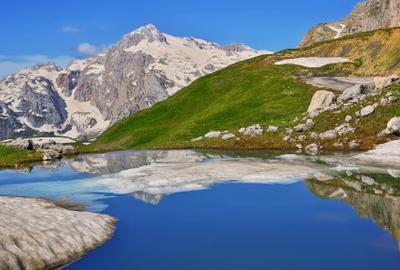 *** Кавказ горы Фишт озеро весна