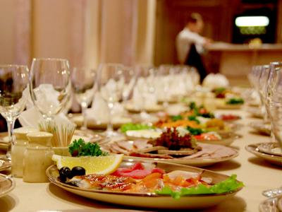 банкет ресторан, еда