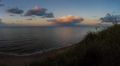 *** море лето пейзаж закат природа путешествия небо облака