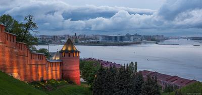 Хмурый вечер Нижний Новгород