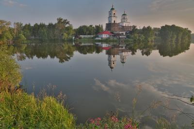 Возрождение Кыштыма Кыштым пруд храм отражение лето радость души