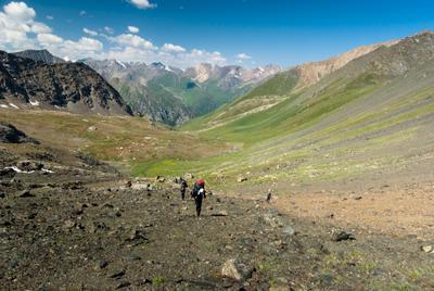 *** Терскей Алатау Киргизия Тянь-Шань перевал подъем