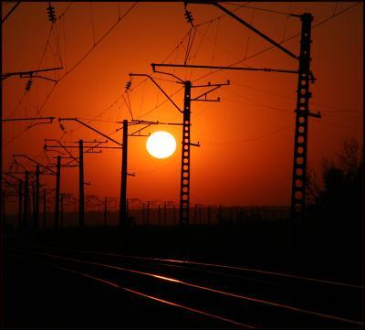 Железнодорожный закат закат