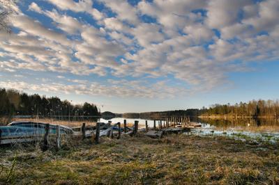 Рассвет над озером карелия утро рассвет nikon d300s ладога шхеры